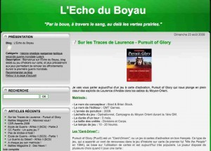 Echo du Boyau Pursuit of glory