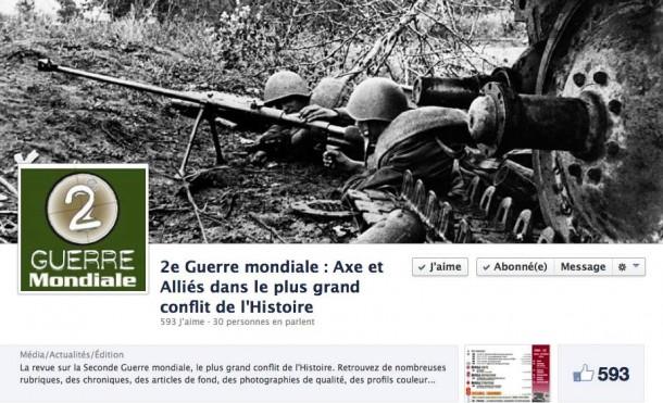 2e guerre mondiale sur Facebook