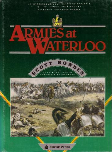 Armies at Waterloo Scott Bowden