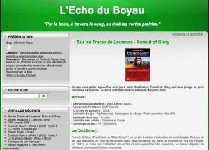 Echo du Boyau Pursuit of glory