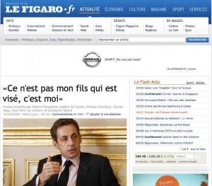 Le Figaro Nicolas Sarkozy Afghanistan