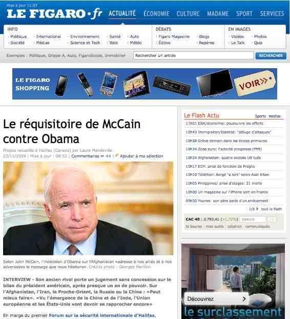 Le Figaro McCain