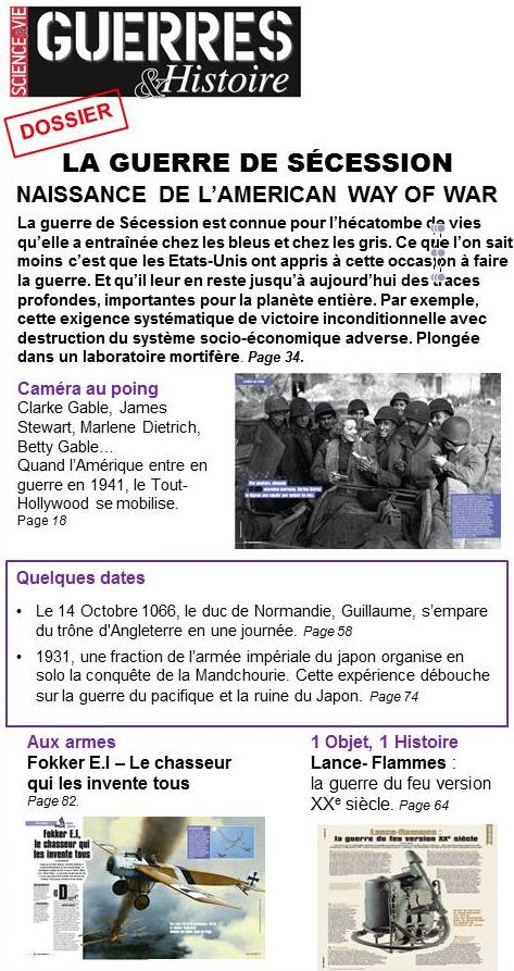 Guerres & Histoire #17 sommaire1