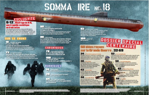 Guerres & Histoire n°18 sommaire